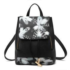Pu Leather Backpacks Women Fashion Backpack Fresh Bagpack School Bags For Teenagers Mochila Bags Woman Travel daypack Back Pack