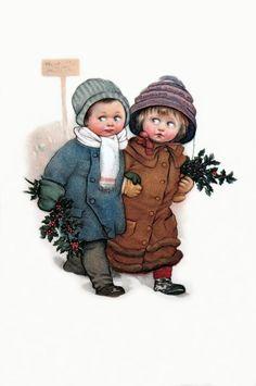 Prachtige kinderen! Retro wenskaart met kinderen .. Discussie LiveInternet - Russische dienst Online Diaries