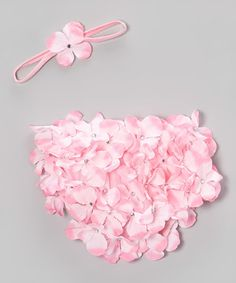 Another great find on #zulily! Pink Hydrangea Headband & Diaper Cover - Infant #zulilyfinds