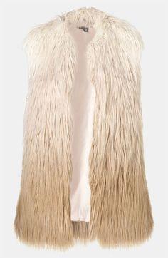 Topshop Ombré Faux Fur Vest