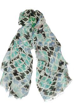 ATHENA PROCOPIOU  Esteban printed modal and cashmere-blend scarf