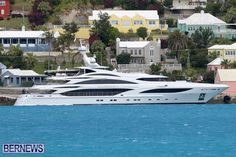 The 190 foot luxury yacht Illusion V  berthed in St. George's, Bermuda http://bernews.com/tag/super-yacht/