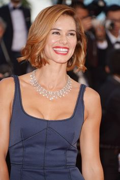"""68th Cannes International Film Festival Red Carpet / """"The Sea of Trees"""" directed by Gus Van Sant Portuguese actress Claudia Vieira dazzled tonight with a sumptuous, one-of-a-kind and timeless necklace in platinum and diamonds, and a Joséphine ring in platinum and diamonds"""