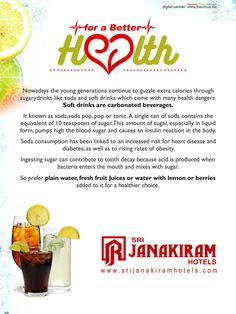 Sodas and soft drinks are delicious & refresh our body immediately, but it have some side effects too. Lets check it out some healthy alternative for it.  #srijanakiram   #health   #sodas   #water