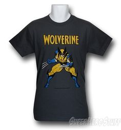 Made from 100% Cotton this charcoal gray t-shirt features an image of Wolverine preparing to grate your bone structure with his elbows rendered by fan favorite comic book artist Arthur Adams! Yep it's Wolverine. Yep it's Wolverine preparing to kill...somebody. Again. Yep. Oh and then we can listen to his internal monologue for the next 72 minutes. Yay. Wolverine. Cool t-shirt though.    http://www.marveloussuperherosquad.com/details.php?pid=495765763