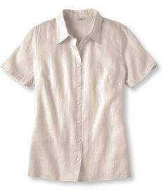 Women's Premium Washable Linen Top, Short-Sleeve   Free Shipping at L.L.Bean