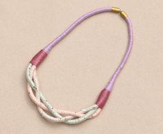 Stoffketten - Stoffkette pastellfarben mit Pailletten - ein Designerstück von BeataTe bei DaWanda