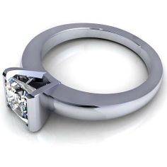 Aurella - White gold - 0.35CT princess cut diamond solitaire ring, £670.00 (http://www.aurella.co/white-gold-0-35ct-princess-cut-diamond-solitaire-ring/)