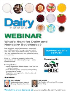 DairyFoods No Dairy Recipes, Food Industry, Magazines, September, Journals