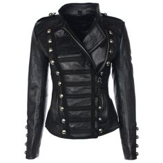 Military Jacket Women's Black  by Boda Skins