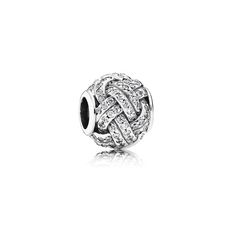 ROCKART Authentic 925 Sterling Silver Sparkling Love Knot Charm Fits European Brand Bracelet & Necklace Diy Jewelry #Affiliate
