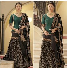 Women S Fashion Cycling Shorts Referral: 4119876337 Indian Gowns Dresses, Indian Fashion Dresses, Dress Indian Style, Pakistani Dresses, Indian Outfits, Pakistani Fashion Party Wear, Pakistani Wedding Outfits, Pakistani Dress Design, Sharara Designs