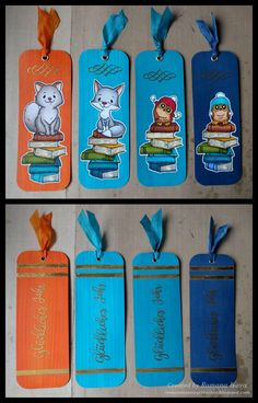 Friendly Christmas gifts 2016 - bookmarks http://romanassunnycreation.blogspot.ch