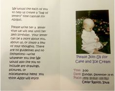 time capsule 18th birthday letters - love this idea so much!!! A must do!