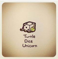Unicorn Dice Cute Turtle Drawings, Cute Drawings, Animal Drawings, Tiny Turtle, Turtle Love, Cute Turtles, Baby Turtles, Kawaii Turtle, Cartoon Turtle