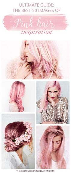 pink hair collage