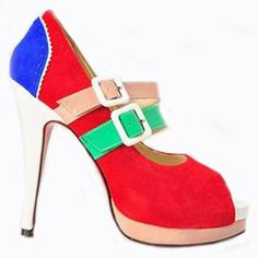 Christian Louboutin  Lillian 140mm Two Strap Mary Jane Pumps Multicolor1 dokuz limited offer,no taxes and free shipping.#shoes #womenstyle #heels #womenheels #womenshoes  #fashionheels #redheels #louboutin #louboutinheels #christanlouboutinshoes #louboutinworld