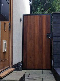 Discover More Attractive Black Garden Doors 05. Garden Entrance, Garden Doors, Entrance Gates, Patio Doors, Wooden Garden Gate, Wooden Gates, Metal Garden Gates, Wooden Barn, Metal Gates