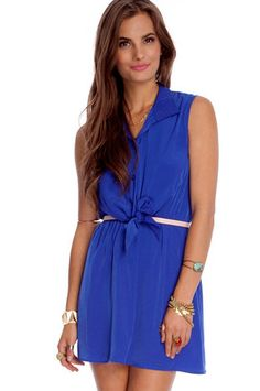 Mi color ideal...  Meet Me Halfway Dress in Royal $32 at www.tobi.com