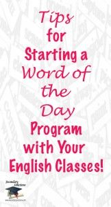 """Tips and specific instructions for starting a """"Word of the Day"""" program!"""