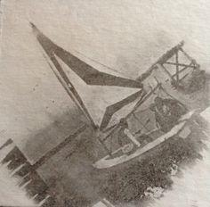 Arabic gum sailboat alternative photography process