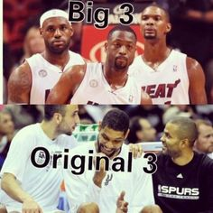 San Antonio Spurs Tim, Tony, and Manu- The ORIGINAL big 3