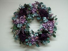 Design of the Week  7/21/2012  Grapevine wreath - purple hydrangeas  www.CoventryCrafts.com