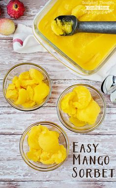 How to make Mango Sorbet (The easy way- this recipe is so perfect for those hot summer days!)