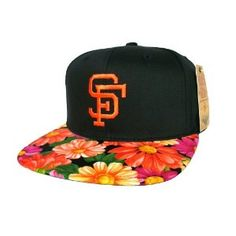 San Francisco Giants Custom Snapback with Handmade Blossom Floral Fabric 360ca8ced40b