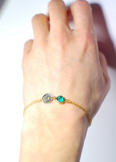 Personalized bracelet Personalized birthstone by AngelicSpark, $26.00