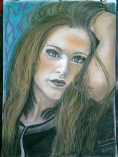 Daiana Liparoti: retrato en pastel by Rosana Pavesa