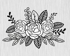 Check out our floral svg files selection for the very best in unique or custom, handmade pieces from our digital shops. Embroidery Flowers Pattern, Embroidery Stitches, Embroidery Designs, Coloring Books, Coloring Pages, Floral Drawing, Flower Svg, Flower Doodles, Doodle Art