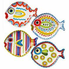 Fish-Fish Salad Plates