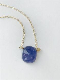 Tanzanite Necklace Natural Tanzanite Necklace Gemstone Necklace Dainty Nacklace Layering Necklace Healing Necklace Boho Necklace