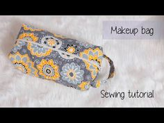 Quilted makeup/travel bag sewing tutorial - YouTube