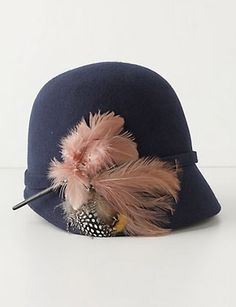 Who doesn't love a cloche?  (And Anthropologie, for that matter?)  $48.00  Must go looking for vintage hats again...