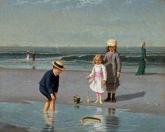 Children on the beach, Samuel S. Carr - Madrid, Museo Thyssen Bornemisza