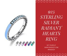 Worldwide Shipping! 🌐🌐🌐  This gorgeous radiant hearts ring is made out of high quality 92.5% Sterling Silver, which has shine and luster unparalleled. Studded with Cubic Zirconia, which provides a breathtaking level of brightness like no other.  Available in sizes 6-9, with 7 gorgeous colors to choose from!  #ring #ringkeep #rings #womensrings #accessories #fashion #style #sterlingsilver #fashionaccessories