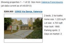 an example of a Valencia CA foreclosure home for sale