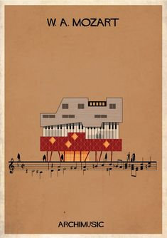 "ARCHIMUSIC: Illustrations Turn Music Into Architecture - Federico Babina / Mozart, ""Requiem"""