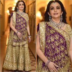 Image may contain: 2 people, people standing Indian Wedding Outfits, Bridal Outfits, Indian Outfits, Lakme Fashion Week, India Fashion, Fashion 2018, Asian Fashion, Saree Draping Styles, Saree Styles