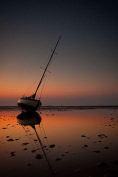 fishing boat on Aldeburgh Beach, Suffolk, England