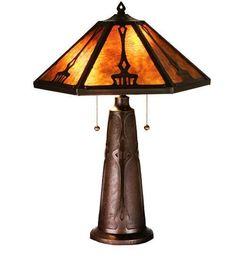 Meyda Tiffany 78067 Grenway Amber Mica Table Lamp