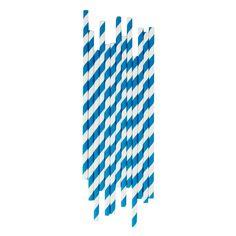 Paperipillit+25+kpl,+siniset+raidat Company Logo, Blue Nails, Paper Straws, Straws, Paper Envelopes, Bulbs