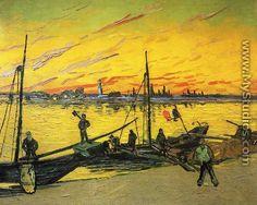 Coal Barges - Vincent Van Gogh