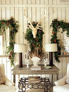 42 Country Christmas Decorations Ideas You Can't Miss - Decoration Love Natural Christmas, Elegant Christmas, Noel Christmas, Country Christmas, Winter Christmas, All Things Christmas, Christmas Vignette, Cowboy Christmas, Cottage Christmas