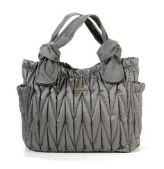 Remain Chic And Stylish By Toting All Of Your Baby S Supplies In Timi Leslie Marie Antoinette Diaper Bag Silver This Fashionable Tote Is