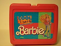 1989 Cool Times Barbie Vinyl Lunchbox With Thermos