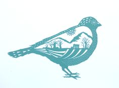 'City Bird' by Stories In Paper (Ellie Chaney). Handmade papercut, 2015.