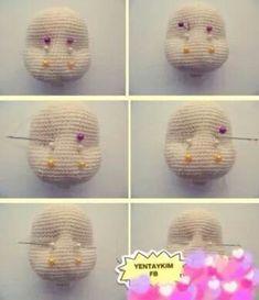 Cómo hacer rasgos en la cara amigurumi 2